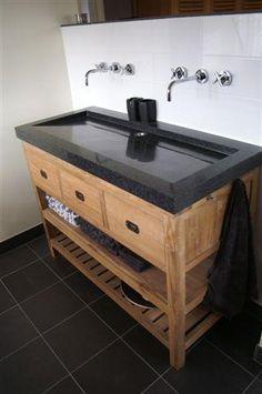 Badkamer on pinterest met bathroom and vans - Badkamermeubels steen ...