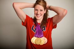Swimming: 2012 Summer Olympics:  USA Missy Franklin 17-year-old won four gold medals and a bronze.