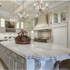 Luxury Kitchen Design, Luxury Kitchens, Cool Kitchens, Dream Kitchens, Luxury House Plans, Dream House Plans, Off White Kitchen Cabinets, Architectural Design House Plans, New Home Construction