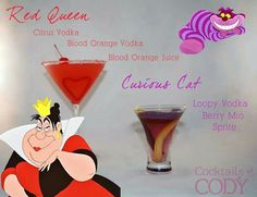 RED QUEEN/CHESHIRE CAT ALCOHOLIC DRINKS