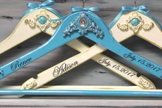 Hangers, Bride and Bridesmaid Turquoise Stone Wedding Hangers,  Personalized  Hangers, Turquoise  Hangers, Bridal hanger, Bridesmaid hangers