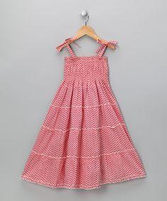 Pink Chevron Tiered #Dress on #zulily