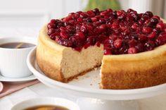 Cheesecake con canela y  arándanos rojos receta