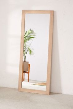 Simple Wooden Mirror - Urban Outfitters