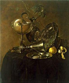 Jan Davidsz De Heem 1606-1684  A Still Life with a Nautilus Cup