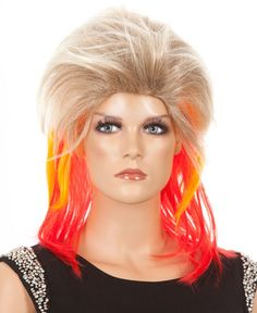 80's Glam Pop Star Costume Wig The high quality fibre is so amazingly soft and sits beautifully around your head and face.  You will look and feel amazing wearing this wig.  (The photo you see is this exact wig taken straight from the resealable PVC package. We take our own photos.) www.thewigoutlet.com.au