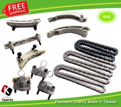 Timing chain kit+camshaft adjusters fits mercedes m271