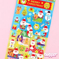 Cute Christmas Puffy Stickers - Style 1
