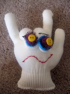 I LOVE you Monster - made out of a glove. So simple and cute for kids.