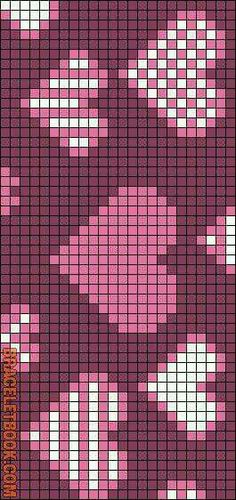 Rotated Alpha Pattern added by KotinKandy Tapestry Crochet Patterns, Bead Loom Patterns, Weaving Patterns, Cross Stitch Bookmarks, Cross Stitch Heart, Cross Stitch Embroidery, Crochet Chart, Filet Crochet, Crochet Rope