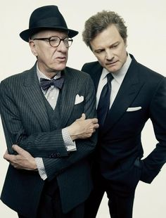 two of the best // #menswear #geoffreyrush #colinfirth #suit