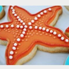 Star fish cookie, cool for a summer party by the beach, maybe?
