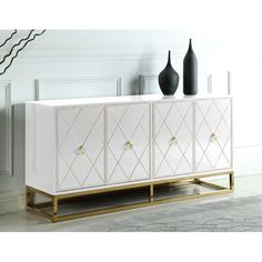 Everly Quinn Scaible 4 Door Sideboard | Wayfair