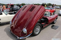 Cars and Coffee, Austin – May 2014. Jaguar E Type 4.2.