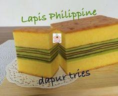 Aneka Resep Kue dan Masakan Enak: Lapis Philippine by. Puding Cake, Bolu Cake, Resep Cake, Indonesian Desserts, Asian Desserts, Indonesian Recipes, Cake Cookies, Cupcake Cakes, Lapis Surabaya