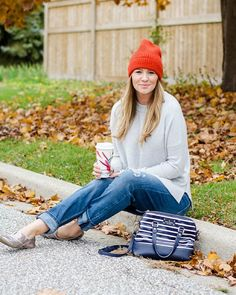 Loving this #sweaterweather  #throwback to last years look on this perfect fall day!