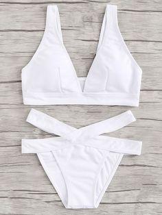 SheIn offers Ribbed Bikini Set & more to fit your… Shop Ribbed Bikini Set online. SheIn offers Ribbed Bikini Set & more to fit your fashionable needs. Summer Bathing Suits, Girls Bathing Suits, Cute Swimsuits, Cute Bikinis, Brasilianischer Bikini, Mode Du Bikini, Bikini Outfits, Beachwear, Swimwear