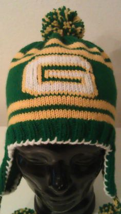 SOLD - Greenbay Packers ear flap hat