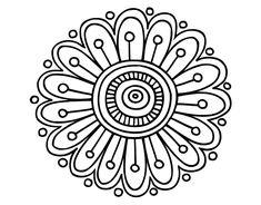 Dibujo de Mandala margarita