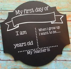 First day of school sign back to school sign by OhSoCraftyByJennie