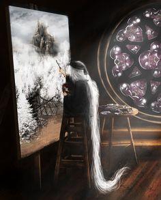 Painting Girl. Dark souls 3 by Skadi6
