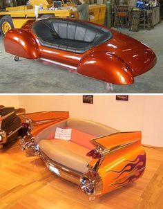 Sofas made from classic cars