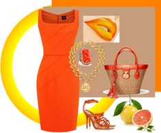 """""""orange"""" by oneandonly7 on Polyvore"""