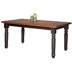 Wide Farmhouse Harvest Table With Turned Legs