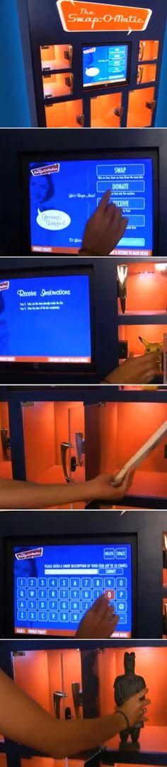 Vending Machine de troca surge como alternativa ao consumismo desenfreado Vending Machine, Sustainable Living, Consumerism