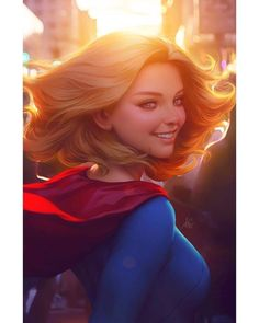 "DC Comic Book Artwork • Super Girl by Stanley ""Artgerm"" Lau. Follow us for more awesome comic art, or check out our online store www.7ate9comics.com"