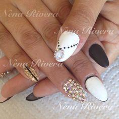 Bling stiletto nails