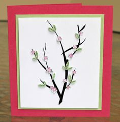 How To: Cherry Blossoms Card