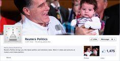 Screenshot of Reuters Politics's Facebook timeline.