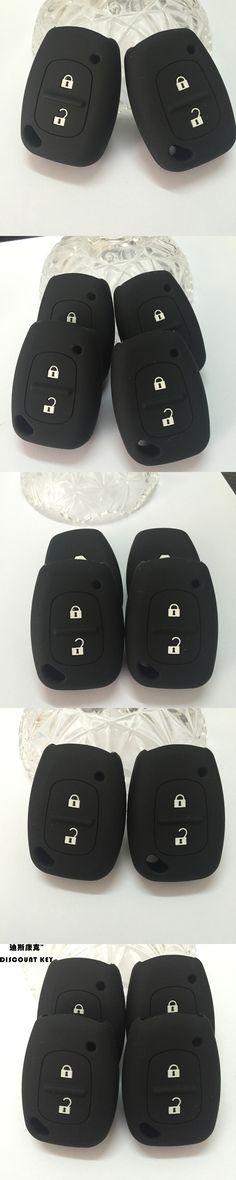 Silicone car key Case Cover For Renault Movano Master Trafic Vivaro Remote Key 2 buttons smart key sticker key case shell