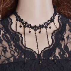 High Quality Fashion Women's Style Crystal Flower Chain Choker Statement collar Lace Necklace Party Beauty Free Shipping