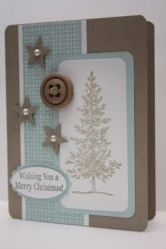 Nice layout of this card.  The Pursuit of Stampin'ess: Lovely as a tree Christmas