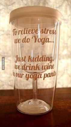 To relieve stress we do...