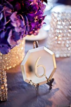 Mirror table numbers-finally found something different and totally Art Deco