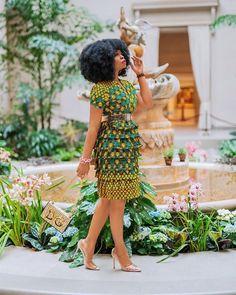Layered Ankara Dress for Friday Outing - AfroCosmopolitan Short Ankara Dresses, Ankara Long Gown Styles, African Fashion Ankara, Latest African Fashion Dresses, African Dresses For Women, African Print Fashion, African Attire, Ankara Gowns, African Clothes