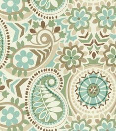 Waverly Home Decor Print Fabric Paisley Prism Latte 11.99