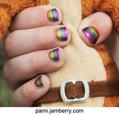 Shine Bright, one of the Jamberry Juniors wraps, actually has a wrap with stars on it, too, but my daughter liked the rainbows best. Check out the whole sheet at pami.jamberry.com!