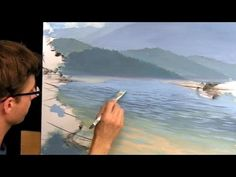 How To Paint A Landscape - Part 4 - Reflections, Rocks & Troubleshooting - YouTube
