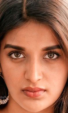 Nidhi Agarwal, Indian Eyes, Beautiful Girl Indian, Diy Box, Art Drawings Sketches, India Beauty, Girl Face, Close Up, Faces