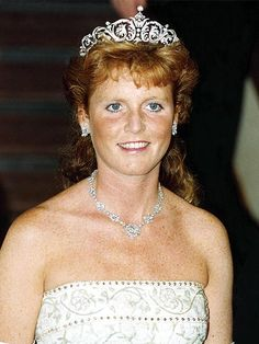 THE DUCHESS OF YORK  A fortuitous move by the royal family or foreshadowing? Sarah Ferguson's diamond tiara did not come from the royal collection – but was purchased for her from Garrard's, the crown jewelers of the time, for her July 23, 1986, wedding to Prince Andrew.