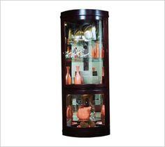 pulaski-furniture; curios collection; corner, chocolate cherry; LOVE IT