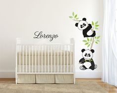 Baby Wall decals kids Wall stickers Baby Nursery Room Decor Kit Little Panda Church Nursery Decor, Nursery Room Decor, Bedroom Themes, Bedroom Decor, Wall Decor, Baby Wall Decals, Diy Wall Stickers, Decoration Creche, Room Wall Painting