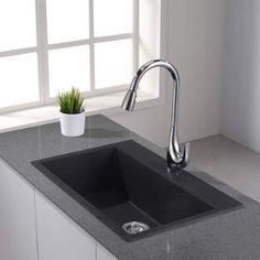 Granite Single Bowl Kitchen Sink Kraus drop inundermount granite composite 31 in 1 hole single kraus kgd 412 31 single basin dual mount drop in or undermount composite kitchen sinksgranite workwithnaturefo