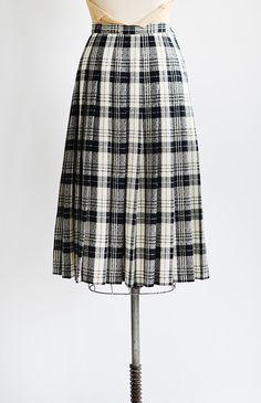 vintage 1960s black plaid wool pendleton skirt | Lower Hastings Skirt  #1960s #vintageskirt