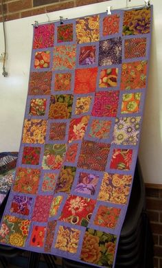 kaffe fassett - I could do this one with the leftover bits of fabric from the quilt I've just started!