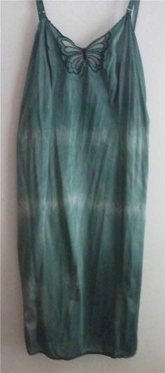 For True & Free people DIY Hand Dyed Vintage Slip Dress SZ MED FREE S/H USA